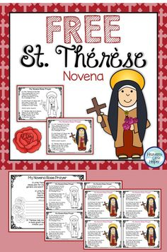 Free printable Saint Therese prayer for Catholic kids. This is a great resource to add to Catholic Religious Education. Catholic Saints For Kids, Catholic All Year, Catholic Schools Week, Catholic Religious Education, Teaching Religion, Religion Catolica, St Therese Prayer, Children's Church Crafts, Catholic Crafts