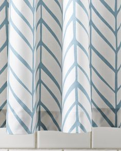 Feather Shower Curtain - Shower Curtains   Serena and Lily