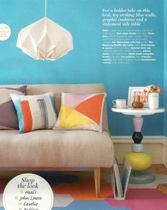 Geometric brights! Styling by Emma Clayton | Photography by Mark Scott