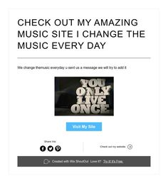 CHECK OUT MY AMAZING MUSIC SITE I CHANGE THE MUSIC EVERY DAY