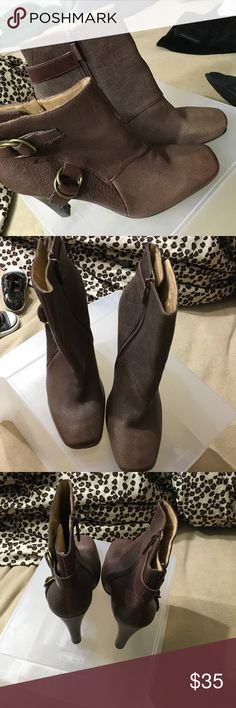 Nine west boots brown Size 11 with buckles Nine West Shoes Ankle Boots & Booties