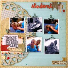 Darling layout using Fancy Pants Off to School by @Misty Buck  I got to be guest sketcher on scrapbook steals!!!