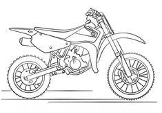 Moto de trial de Suzuki Dibujo para colorear