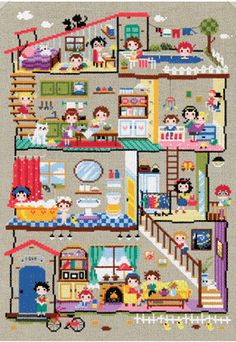 Cute modern cross stitch patterns and kits