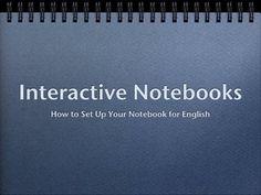 Interactive Notebooks by Dana Huff, via Slideshare