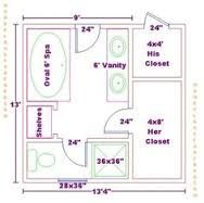 Best Master Bath Floor Plans With Dimensions Bathroom 400 x 300