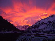 #mountains #beautiful #sunset