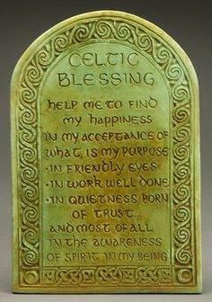 Celtic Blessing Plaque by Midnight Moon. Art for home and garden created in the Celtic Tradition by Ann and Jon Maglinte.