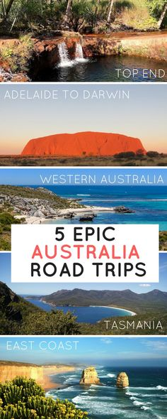 Five Australia road trips for the bucket list. East Coast, Western Australia, from South to North, the Top End, and Tasmania — tips, guides, Instagram spots, and wanderlust inspiration to travel by car through the most beautiful places in Oz.