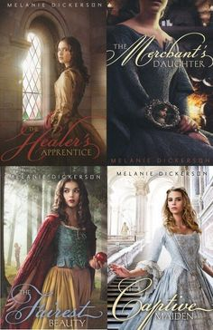 Melanie Dickerson fairytale retellings- These four books need to be read by every person! They are amazing! And they have helped me with my faith in God. Book Tv, Book Nerd, Book Club Books, Book Lists, Book Series, I Love Books, Great Books, New Books, Books To Read