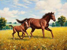 pintura de caballos - Buscar con Google