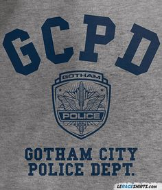 GCPD T-Shirt Gotham City Police Department ff5ab9d1a