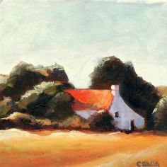 Red Barn #oil #painting