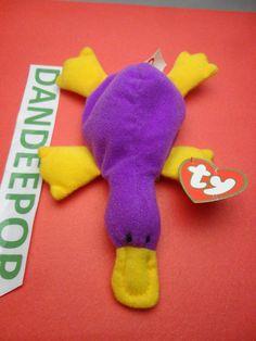 TY original Teenie Beanie Babie Patti Platypus 1999 McDonald's Happy Meal Stuffed Animal Toy New find me at www.dandeepop.com
