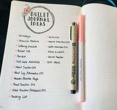 37 Easy Bullet Journal ideas for organizing well and accelerating your ambitious goals Meinungen Bullet Journal Vidéo, Bullet Journal Spread, Bullet Journal Layout, Bullet Journal Inspiration, Bullet Journal Table Of Contents, How To Start A Bullet Journal, Agenda Bullet, Daily Journal, Art Journal Pages