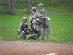 Juniors recieving orders from senior cadets