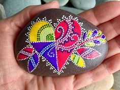 forever love /painted rocks / painted stones/ paperweights/