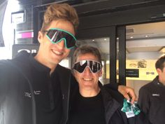 Eyeshade selfie with pops at #ParisRoubaix presentation