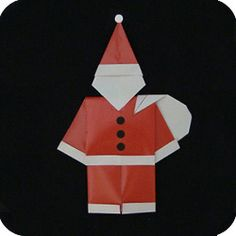 """This Three Part Santa is a fabulous model. I call it """"three part"""" because you have to divide the paper into thirds. As well, this Santa has three parts: Christmas Night, Christmas Past, All Things Christmas, Origami Santa Claus, Paper Folding Art, Christmas Origami, Origami Paper, Paper Paper, Santa Ornaments"""