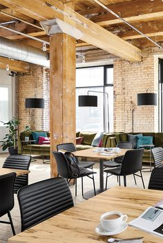Modern café and restaurant design ideas for hospitality environments. Next Restaurant, Restaurant Design, Modern Cafe, Retail Space, Modern Spaces, Commercial Interiors, Table, Furniture, Home Decor