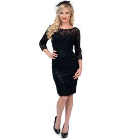 black-cocktail-dresses-with-sleeve-