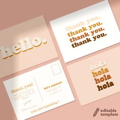 Printable Thank You Notes, Thank You Note Template, Business Thank You Cards, Small Business Cards, Business Branding, Business Card Design, Stationery Business, Packaging Inspiration, Packaging Design
