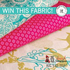Warp & Weft Giveaway! August 9-23, 2013 - visit Thread Riding Hood to enter!