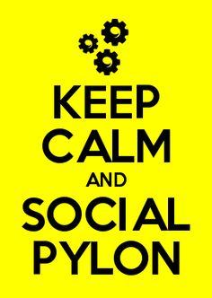KEEP CALM AND SOCIAL PYLON