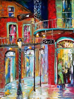Original painting New Orleans French Quarter Jazz landscape modern impressionism… New Orleans Festivals, New Orleans Art, New Orleans French Quarter, Modern Impressionism, Tropical Art, Artsy Fartsy, Les Oeuvres, Art Lessons, Original Paintings