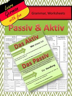 German Grammar - Aktiv und Passiv - Übungen, Regeln, Arbeitsblätter