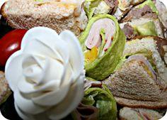 Classically modern tea sandwiches