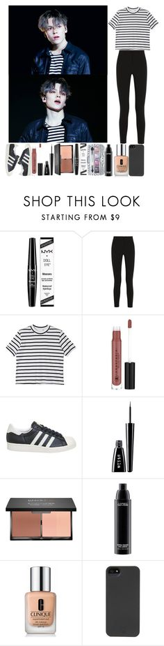 """""""Watching Vernon perform"""" by the-broken-angel ❤ liked on Polyvore featuring NYX, Topshop Unique, StyleNanda, Anastasia Beverly Hills, adidas, Stila, Jill Stuart, MAC Cosmetics, Clinique and HEX"""