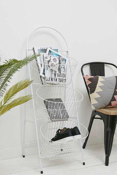 Regal mit 3 Böden in industriellem Design in Weiß