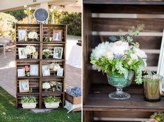DIY Wedding family photo shelf.   Figlewicz Photography