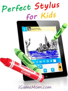 Drawing on iPAD with fingers is different from drawing with a pen.  How can we help kids strengthen their finger muscles while having fun on the tablets? A stylus that fits the little hands will be a good answer.