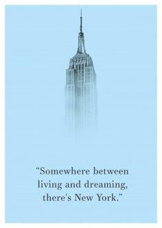 """Somewhere between living and dreaming, there´s New York - Quote"" or another one of our designs as a real postcard worldwide! We offer the right card for every occasion – like ""Vacation Cards & Quotes 🗺️🏖️📸"" Quotes New York, City Quotes, A New York Minute, Vacation Quotes, Travel Quotes, City Aesthetic, Travel Aesthetic, Empire State Of Mind, New York"