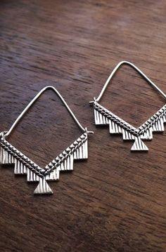 Kilim hoops - Ornate geometric tribal hoop earrings