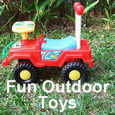 Outdoor toys for toddlers that are not only great fun but are the perfect outlet for your kids energy. Outdoor Toys For Toddlers, Toddler Toys, Outdoor Fun, Outdoor Power Equipment, Kids, Young Children, Boys, Children, Children's Comics