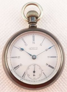 Antique 18 Size Coin Silver Waltham Pocket Watch - No Reserve ! #Waltham