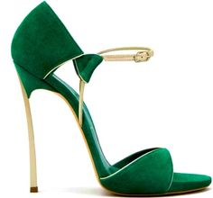 Green Casadei Ankle Strap Heel