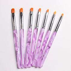 7pcs lot Nail Art Brush Pens UV Gel Nail Polish Painting Drawing Brushes set Manicure Tools. Click visit to buy #Nail #Tool #NailTool