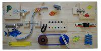 Kajmanova DÍLNA - Montessori activity board pro děti, dřevěné hrací desky na zakázku