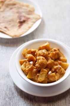 aloo gobi masala recipe with step by step photos. learn to make restaurant style aloo gobi masala recipe. i have also shared dry aloo gobi & punjabi aloo gobi curry dhaba style recipe. Veg Cutlet Recipes, Veggie Recipes, Vegetarian Recipes, Cooking Recipes, Vegetarian Biryani, Veggie Food, Potato Recipes, Cooking Tips, Recipes