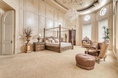 Dream home bedroom luxury master suite Crown Jewel of Palm Royale – $12,800,000