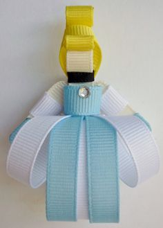 Cinderella Ribbon Hair-clip Ribbon Sculpture by TakeABowHandcrafts