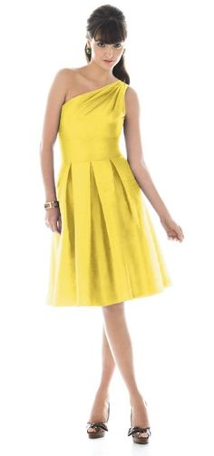 I like the one-shoulder and from the waist up.  Not a fan of the pleats.  And in a different color or course.