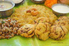 Chakrai Pongal / Sweet pongal, vada, payasam recipe..! http://www.tastyappetite.net/2014/10/happy-saraswati-puja-ayudha-puja-to-all.html
