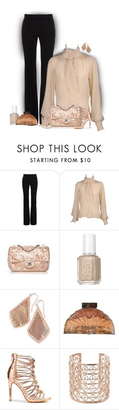 """""""Two Tones"""" by stileclassico ❤ liked on Polyvore featuring Trilogy, Alexander McQueen, Yves Saint Laurent, Chanel, Essie, Kendra Scott and Co.Ro"""