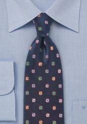 Blumenmotiv-Krawatte nachtblau günstig kaufen