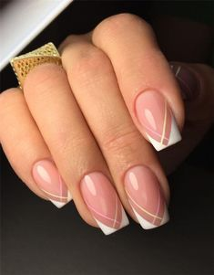 Cute Gel Manicure Designs That You Want To Copy; Best Gel Nail Design - Trendy Gel Nail Design Ideas Nails Cute Gel Manicure Designs That You Want To Copy French Nails, French Manicure Nails, Gel Manicures, French Nail Designs, Nail Art Designs, Nails Design, Cute Nails, Pretty Nails, Hair And Nails